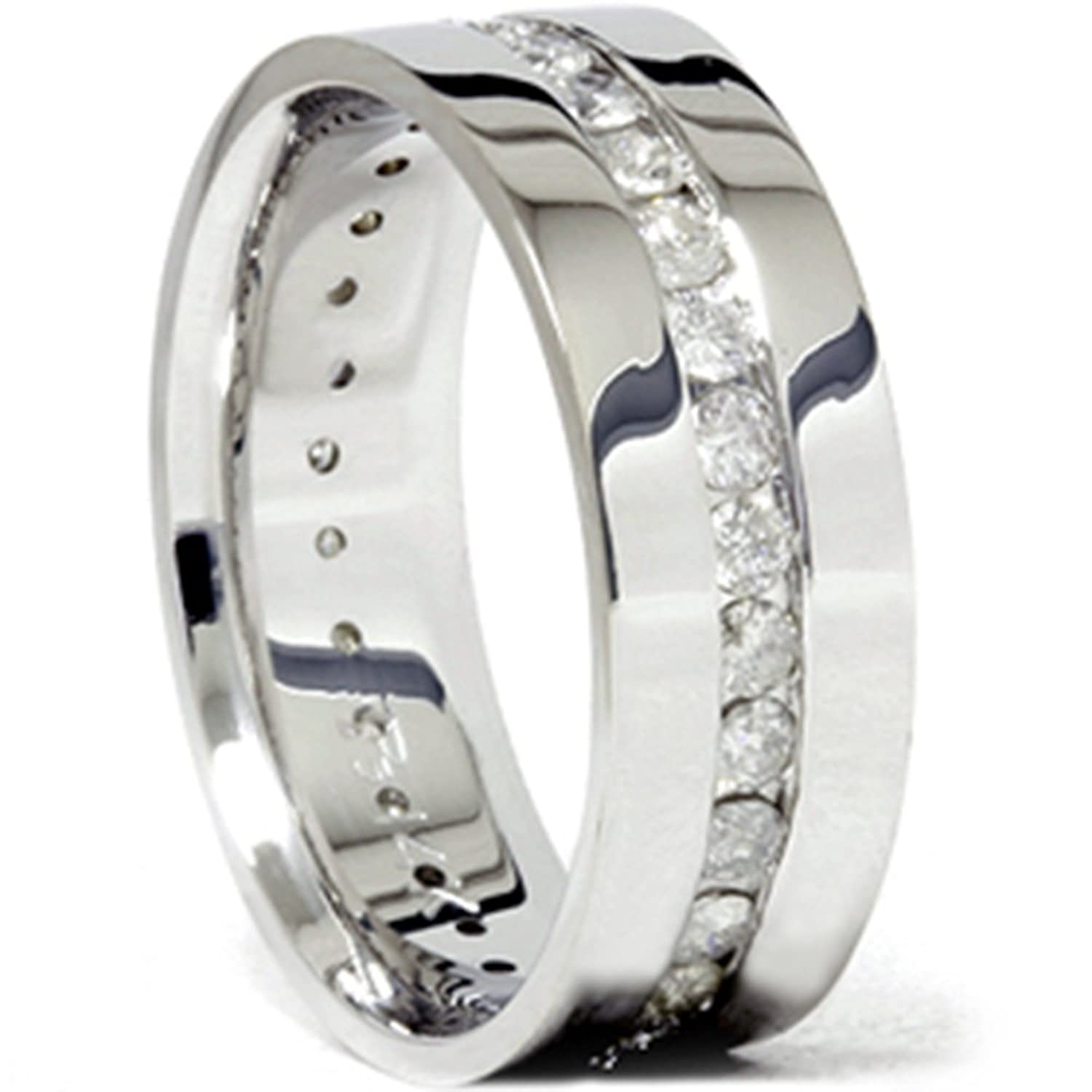 pin bands ring two tone men aramis eternity s band mens diamond