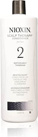 Nioxin System 2 Scalp Therapy Conditioner For Fine Natural Noticeably Thinning for Unisex, 33.8 oz, 1014 milliliters