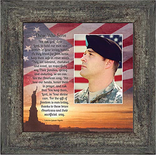 Personally Yours Those Who Serve, Military Picture Frame, Gifts for Soldier, 10x10 6349BW