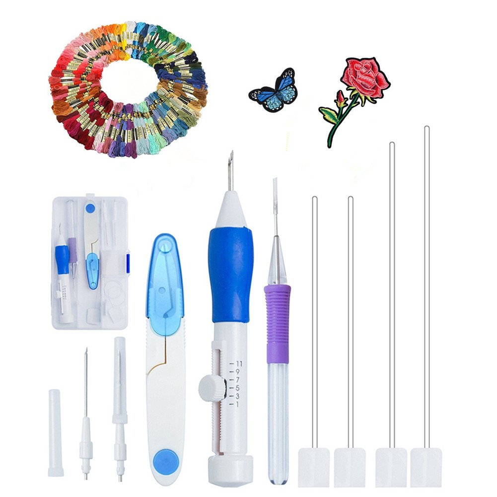 Amazon Com Cleana Arts Embroidery Pen Punch Needle Magic Embroidery