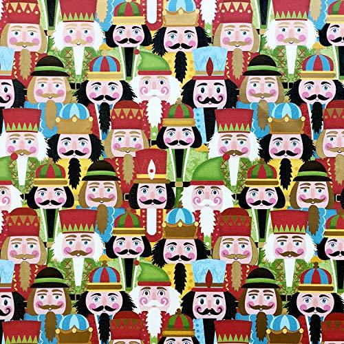 Jillson & Roberts Gift Wrap, Nutcracker Party (6 Jumbo Rolls 10ft x 30in)