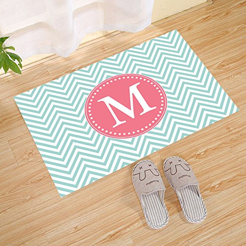 Chevron zig zag striped background m letter abstract circle