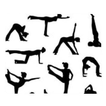 alfombrilla de ratón Silueta de la gente de yoga 1: Amazon ...