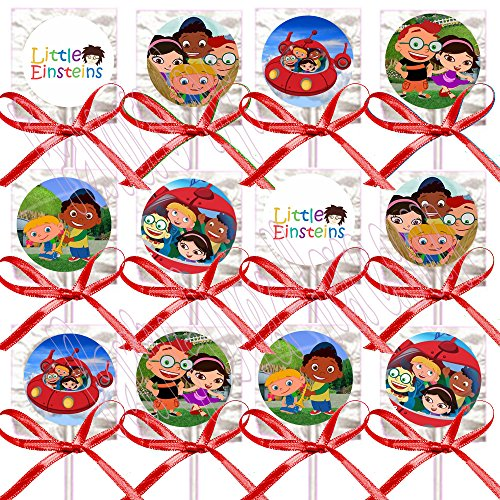 (Little Einstein Party Favors Supplies Decorations Lollipops with Red Ribbon Bows Party Favors -12 pcs)