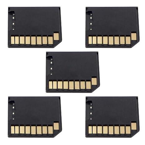 Juego de 5 adaptadores de Tarjeta Micro SD TF a SD de Perfil bajo ...