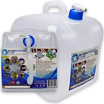 5.3 GALLON PORTABLE WATER STORAGE CONTAINER CAMPING WITH SPIGOT BPA FREE NEW