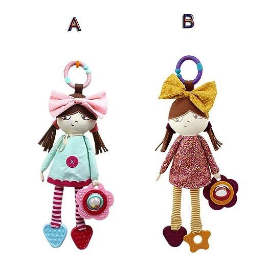 Amazon.com: FJY Baby Hanging Toy Rattle Soft Plush Toy Hanging On Stroller/Pram/Pushchair/Car Seat/Crib Cot Pendant Toy - Baby Toys For Boys & Girls ...