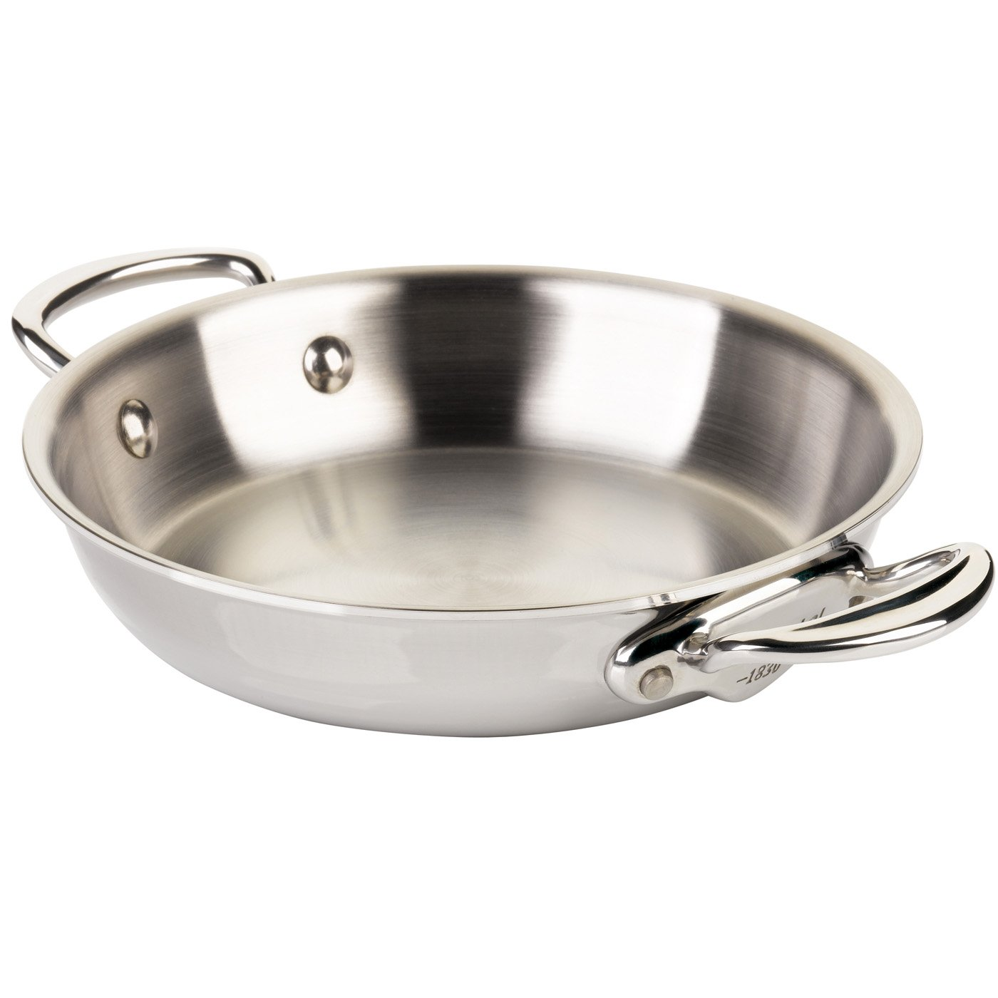 Mauviel 5238.28 28CM CAST SS HDL M'cook Round pan, 28'', Stainless Steel