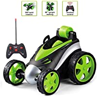 The Flyers Bay Remote Control Car RC Stunt Car 360°Rotating Rolling Radio Control Electric Race Car Boys Toys Kids