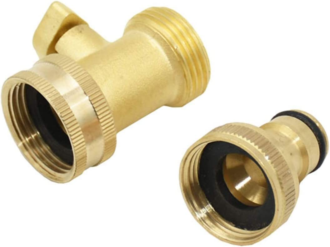 Color : Yellow Car wash Garden Hose Copper Fittings Jiaqi-cnnectors 1pcs 3//4 Female to 5//8 Brass Garden tap rquick Connector