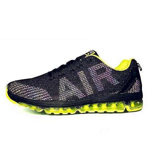 Axcone Zapatillas Hombres Mujer Deporte Running Zapatos para Correr Gimnasio Sneakers Deportivas Padel Transpirables Casual - 35EU-45EU: Amazon.es: Zapatos ...
