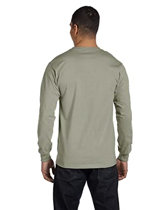 868cec6072af Hanes Men's 2 Pack Long Sleeve Beefy-T Shirt, XXX-Large, 1 St. Green / 1  Black: Amazon.in: Clothing & Accessories