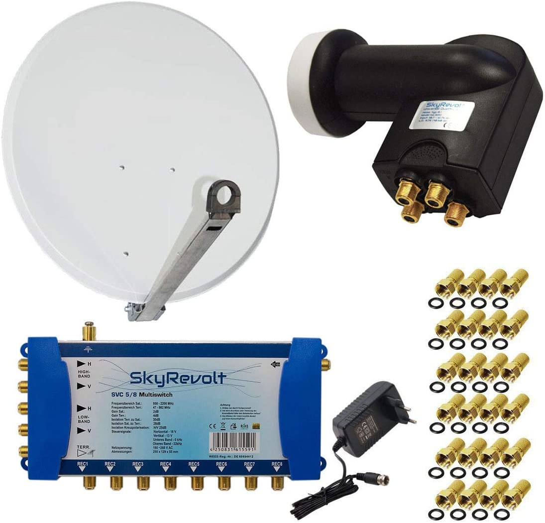 PremiumX – Antena 85 cm Acero Gris Claro + skyre V ...