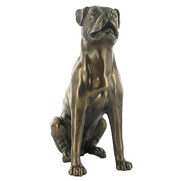 Boxer bronziert Boxerhund Statue Deko Hunde Figur