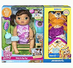 Baby Alive Doll Baby Alive Baby Go Bye Bye (Brunette) Talks English & Spanish by Baby Alive