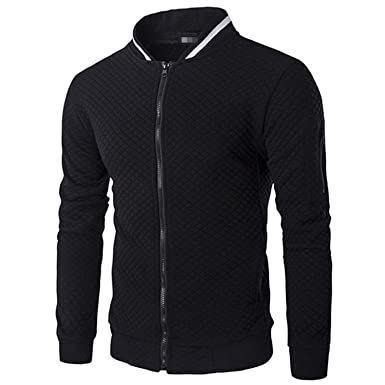Giles Abbot Mens Hoodies Male Brand Casual Zipper Jacket Stand-Neck Sudaderas Hombre Sweatshirt Black