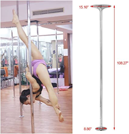 AW® 45mm Dance Pole Static Spinning Portable Stripper Dancing Fitness Exercise