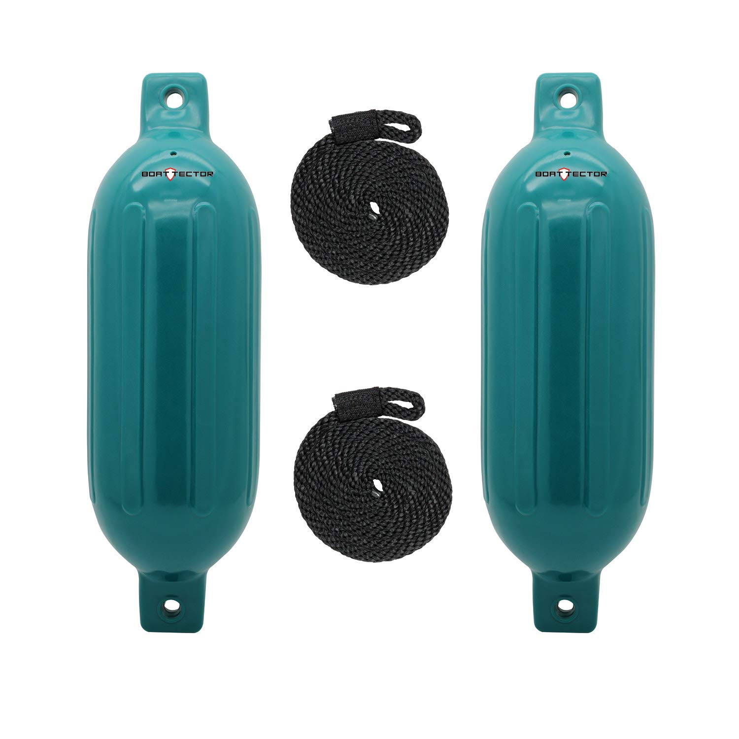 Extreme Max Standard 3006.7608 BoatTector Inflatable Fender Value 2-Pack-8.5'' x 27'', Teal