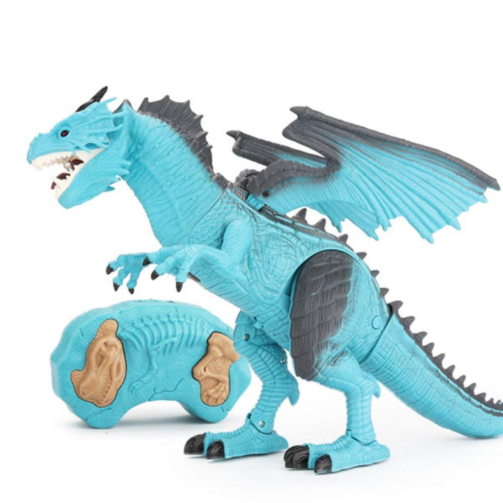 Gikmhyb Giocattolo di Dinosauro per Bambini Giocattolo Elettrico di Simulazione A Distanza di Spruzzo di Controllo Remoto di Ghiaccio,Ice-OneDimensione