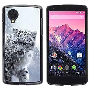 PC/Aluminum Funda Carcasa protectora para LG Google Nexus 5 D820 D821 Majestic Snow Panther Tiger Lion / JUSTGO PHONE PROTECTOR