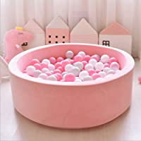 FUNTRESS Ball Pits for Toddlers Memory Foam Sponge Kids Ball Pool Round Baby Play Space Toller Private Play Yard, Large Dry Pool (Pink)