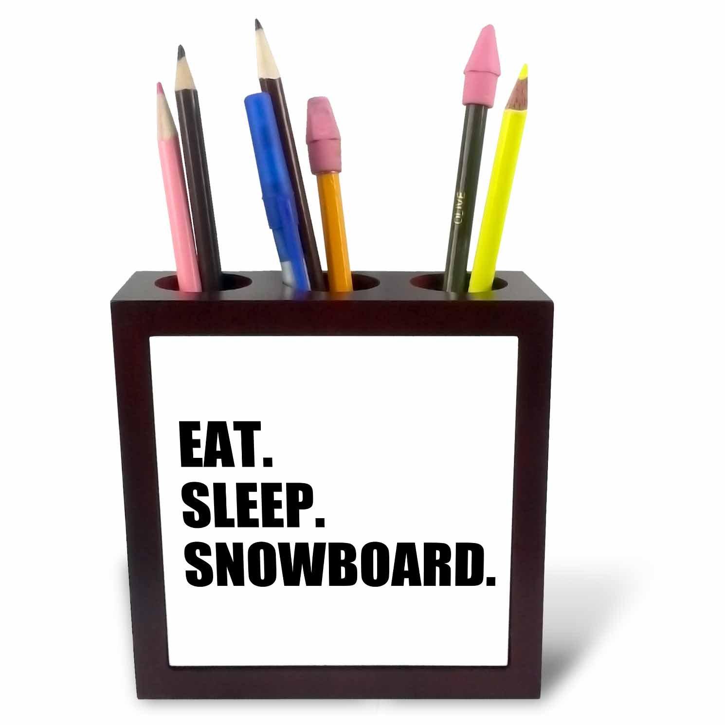 3dRose Eat Sleep Black Text-Writing Fan-Writer Gifts-Fun Funny Tile Pen Holder ph/_180459/_1 5 5