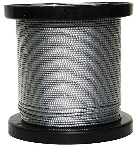 Mil W 83420 Wire   1 4 X 1000 7x19 Galvanized Cable Reel Pars Company