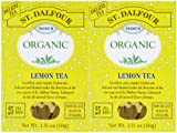 St. Dalfour Organic Tea, Lemon, 25 ct, 2 pk