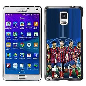 Design for Girls Plastic Cover Case FOR Samsung Galaxy Note 4 Barcelona Soccer Team OBBA