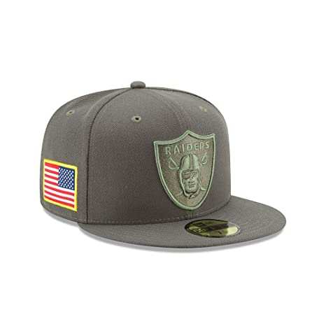 """Men/'s NFL Cap Grey New Era 5950 Oakland Raiders /""""Twisted Frame/"""" Fitted Hat"""