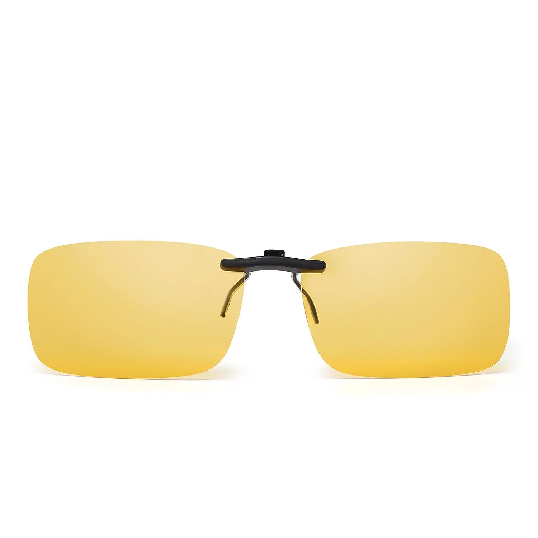 Rimless Rectangle Clip on Sunglasses Lightweight Polarized Eyeglasses Men Women ZTPT0175 C4