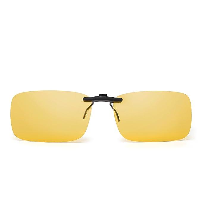 JM Sin marco Rectángulo Clip en Gafas de Sol Ligero Peso Polarizadas Anteojos Hombre Mujer(