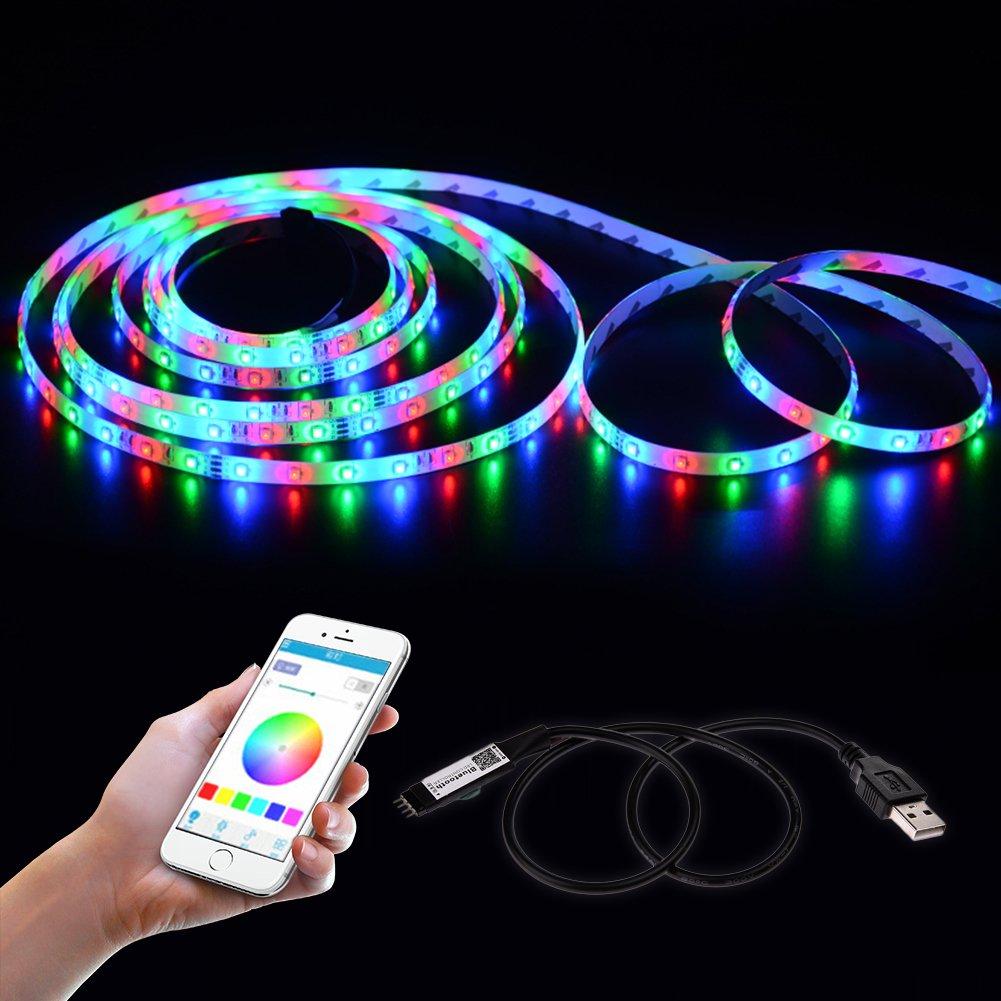 Bluetooth LED Strip Light Controller Topled Light Waterproof Flexible RGB Strip Light Rope Light Kit Controller, for iOS/Android App Controlled and Festival Decoration anne210