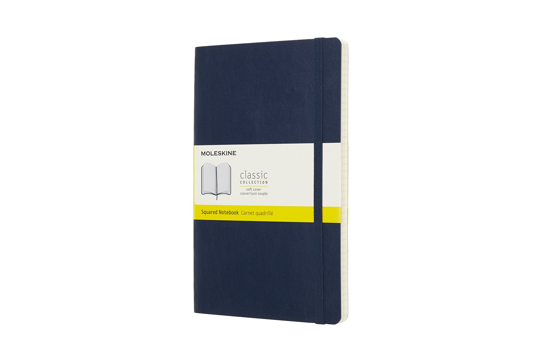 Moleskine Classic Soft Cover Notebook, Squared, Large ()