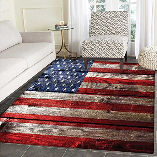 Rustic American USA Flag Customize Floor mats for home Mat F