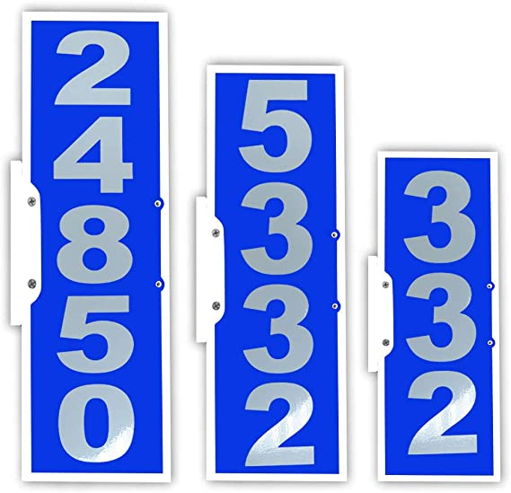 Cit Group 911 Address Sign Rual Mailbox Address Plaque 4 5 Number Large Reflective Number Vertical Mailbox Plaque Garden Outdoor