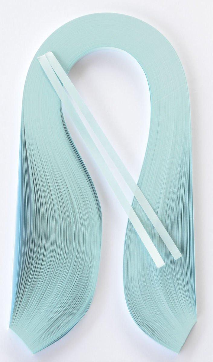 Quilling strisce , larghezza da 3 o 5 mm, 200 pezzi, Lunghezza 420 mm, di colore azzurro chiaro Enitan