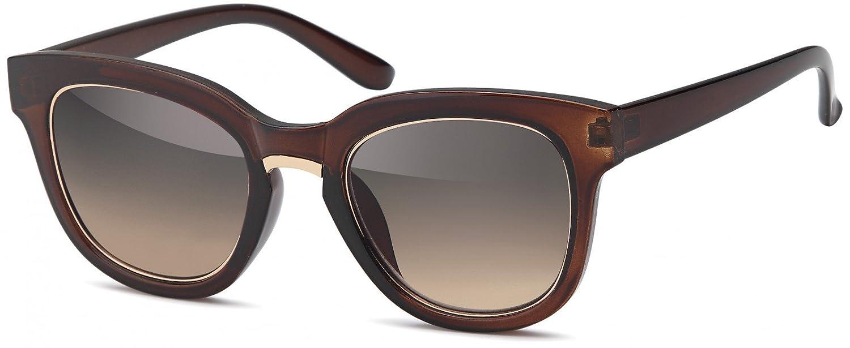 styleBREAKER Lunettes de soleil aviateur avec monture laquée, lunettes pilote, unisexe 09020080, couleur:Monture Noire-Dorée / Verre Gris Evolution
