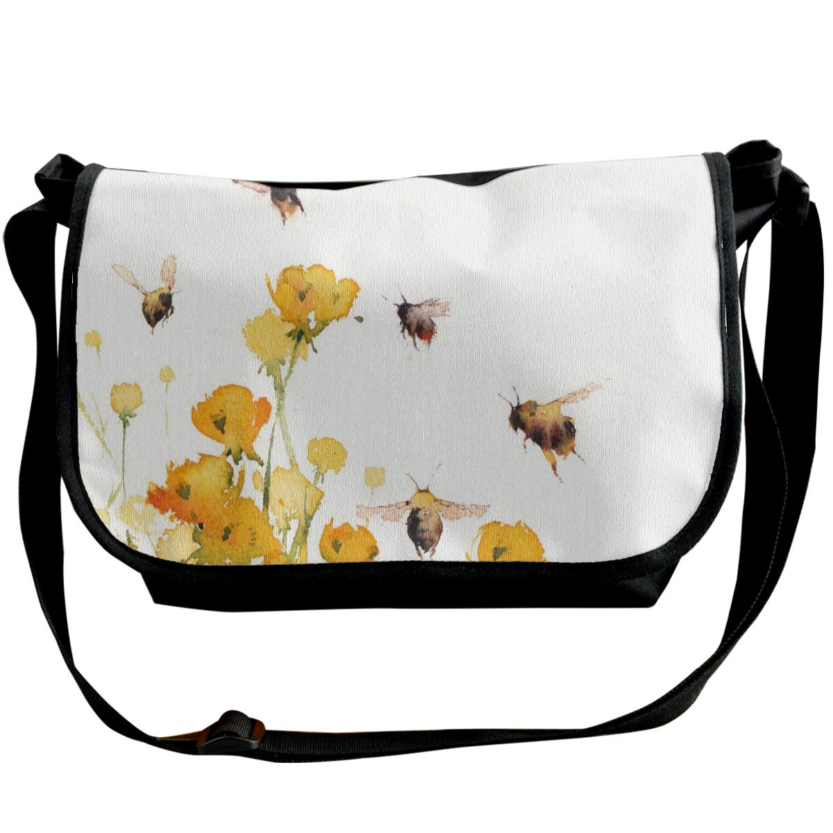 Osborne Bee With Buttercups Unisex Crossbody Single Shoulder Bag Messenger Bag