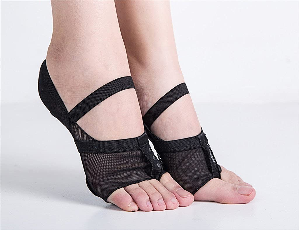 staychicfashion Womens Full Body Mesh Stretch Lyrical Shoes Kids Ballroom Jazz Practice Dance Paws