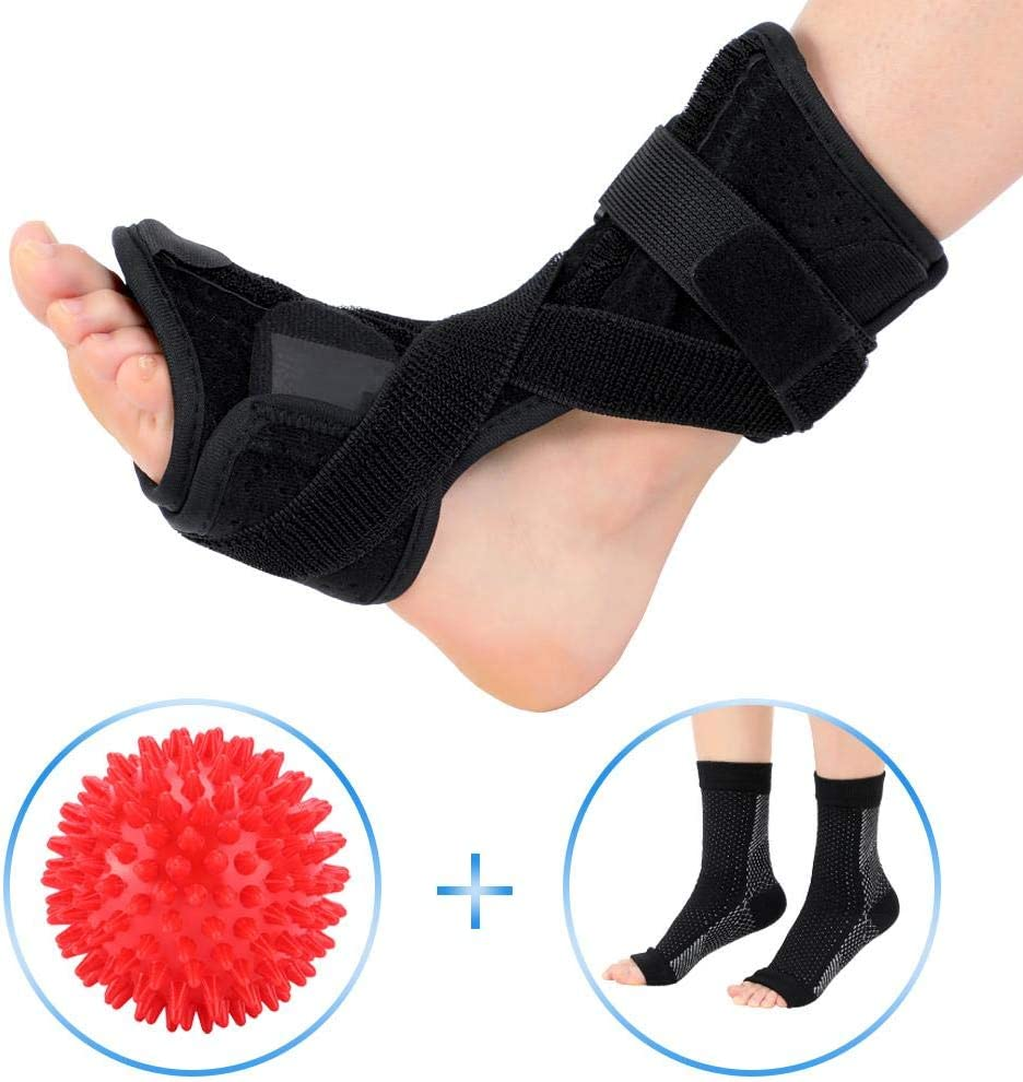 Drop Foot Night Splint Support Pain Relief for Dorsiflexion Arthritis Heel Calf Dorsal Fasciitis Splints Suitable for Menand Women Xuuyuu Plantar Fasciitis Brace
