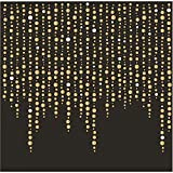 Fancy Black with Gold Beading Holiday Christmas Party Paper Napkins Beverage Size Pk 48
