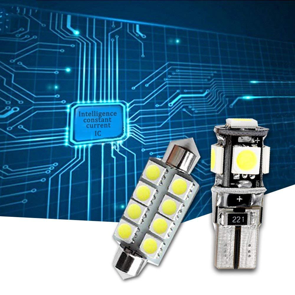 Muchkey LED Auto Lampadina Canbus Sensa Errore LED luci dellautomobile Bulb per X1 F48 LED per la Luce Interna Dellauto Bianco 12 Pezzi