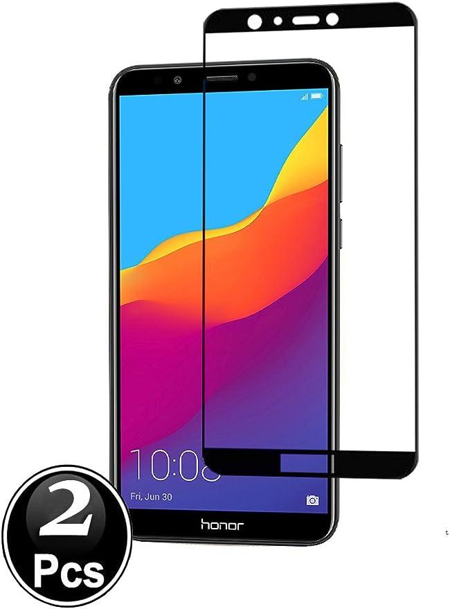 Ferlinso[2 Pack Cristal Templado Huawei Honor 7C / Huawei Y7 Prime ...