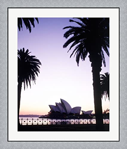 Amazon.com: Silhouette of a opera house at dusk, Sydney Opera House ...