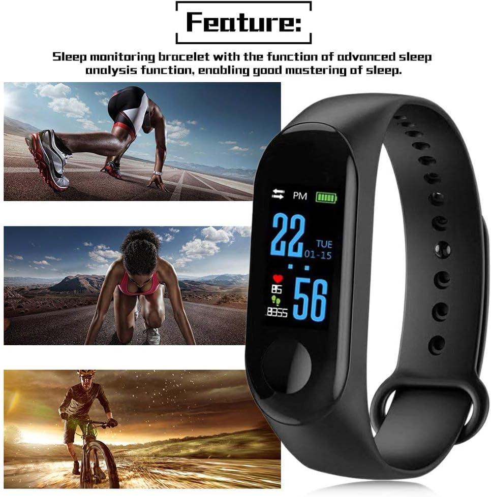Leoboone M3 Smart Bracelet schermo a colori IP68 impermeabile cardiofrequenzimetro pressione arteriosa orologio sostituibile per Android IOS