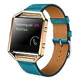 Welcomeuni FASHION 23MM Leather Watch band Wrist strap + Metal Frame For Fitbit Blaze Smart Watch