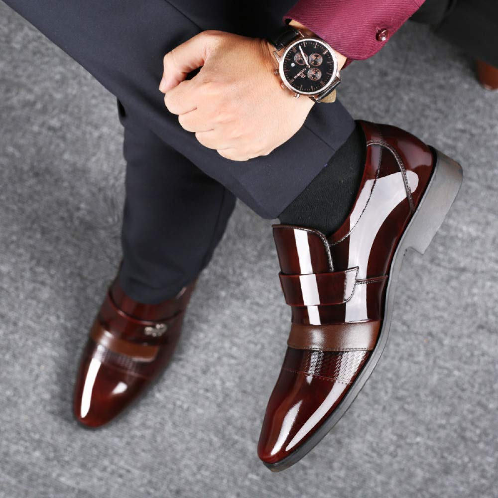 XINGF Herren Herren Herren Schwarzen Kleid Spitzen Schuhe, Business Casual, Helles Leder, Rutschfest, Abriebfest, Low-Cut, Braun, Herrenhochzeitsschuhe B07JJMD16B  d120bc