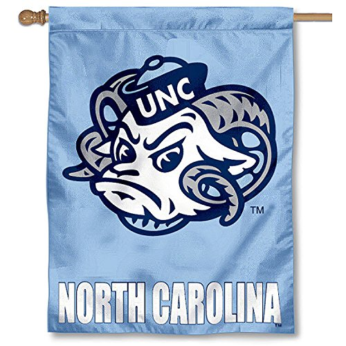 (College Flags and Banners Co. University of North Carolina Tar Heels UNC House Flag )