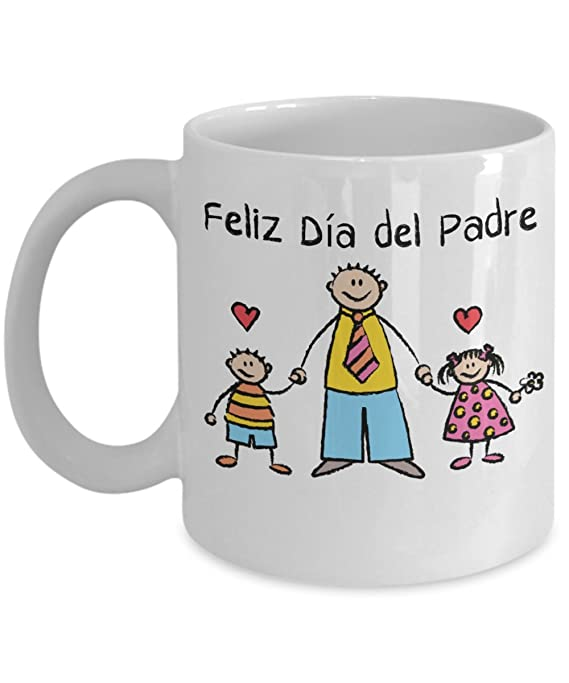 Amazon.com: Feliz Día del Padre Taza de café Happy Fathers Day Coffee Mug Spanish Language Mug: Kitchen & Dining